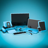 Laptop, Tablet PC and Smartphone Royalty Free Stock Image