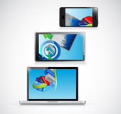 Laptop, tablet and phone business concept Royalty Free Stock Photography