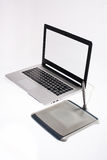 Laptop and Tablet. Portable Design Suite, Laptop and Tablet Stock Photo
