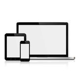 Laptop,tablet and smartphone mockup Royalty Free Stock Image