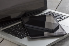 Laptop Tablet and Smartphone Royalty Free Stock Photo