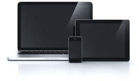 Laptop Tablette und smartphone