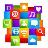 Laptop, Tabletten-PC, Telefon und Zeitung Stockfoto
