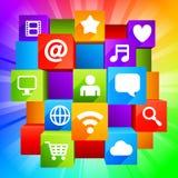 Laptop, Tabletten-PC, Telefon und Zeitung Lizenzfreies Stockfoto