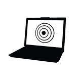 Laptop with target black vector Stock Image