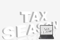 Laptop, tax season Stock Images