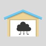 laptop technology cloud connection icon design Stock Image