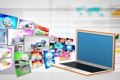 Laptop, technology concept Royalty Free Stock Image