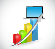 Laptop technology graph illustration Royalty Free Stock Photography