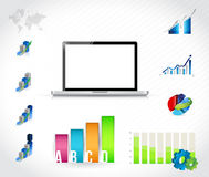 Laptop technology infographic chart Royalty Free Stock Photo