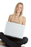 Laptop Teen Girl royalty free stock image