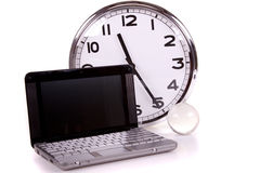 Laptop and time concept! Stock Photography