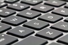 Laptop toetsenbord met Zwarte Sleutels close-up royalty-vrije stock foto's
