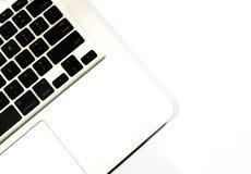 Laptop toetsenbord op een witte achtergrond stock foto