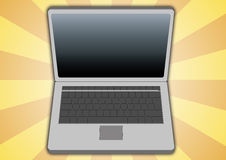 Laptop top view Royalty Free Stock Images