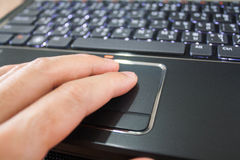 Laptop touchpad Royalty Free Stock Image