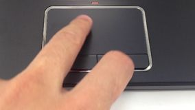 Laptop touchpad stock video
