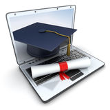 Laptop and Trencher Royalty Free Stock Photography