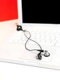 Laptop Tunes Stock Image