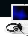 Laptop Tunes Royalty Free Stock Image