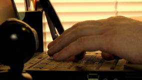 Laptop typing. Close-up hands typing at laptop time lapse stock video