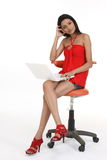 laptop używać kobiety zdjęcie royalty free