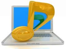 Laptop und Anmerkung Lizenzfreies Stockfoto