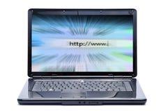 Laptop und Internet lizenzfreies stockbild