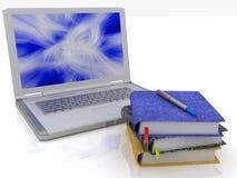 Laptop und Notizbücher Stockbilder