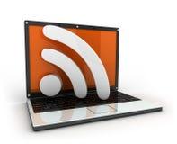 Laptop und RSS Stockfotografie