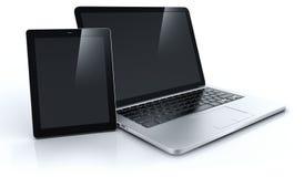 Laptop und Tablette Stockfoto