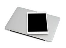 Laptop und Tablette Stockbild