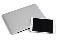 Laptop und Tablette Lizenzfreie Stockbilder