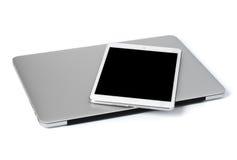 Laptop und Tablette Lizenzfreies Stockbild