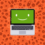 Laptop under the virus attack Stock Images