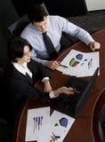 Laptop van Businessteam Royalty-vrije Stock Foto's