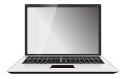 Laptop van de computer Vooraanzicht Royalty-vrije Stock Afbeeldingen