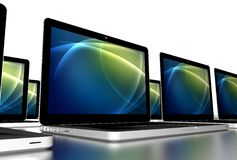 Laptop van de school Computers Royalty-vrije Stock Foto