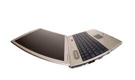 Laptop van de vervorming bij linkerzijde 2 royalty-vrije stock afbeeldingen