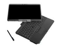 Laptop van PC van de tablet op witte achtergrond Stock Foto