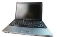 Laptop van Tha die op witte achtergrond wordt geïsoleerdc Stock Foto