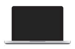 Laptop vector. Laptop with blank screen isolated on white Royalty Free Stock Photo