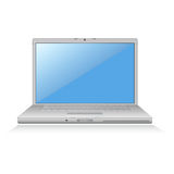 Laptop Vector Blue Screen Royalty Free Stock Photo