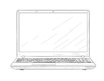 Laptop - vector illustration. Stock Images