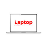 Laptop vector vlakke realistische pictogram moderne laptop Royalty-vrije Stock Fotografie