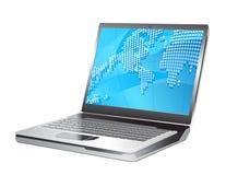 Laptop vectorillustratie Stock Afbeeldingen