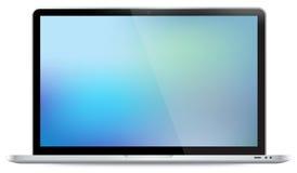Laptop vectorillustratie Stock Afbeelding