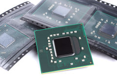 Laptop video chip isolated on white Stock Image