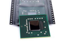Laptop video chip isolated on white Royalty Free Stock Photo