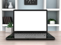 Laptop view front Royalty Free Stock Images